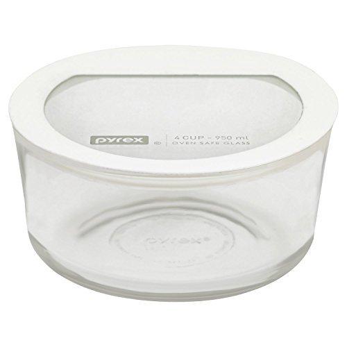 Pyrex Premium 4 Cup Round Storage Dish, White