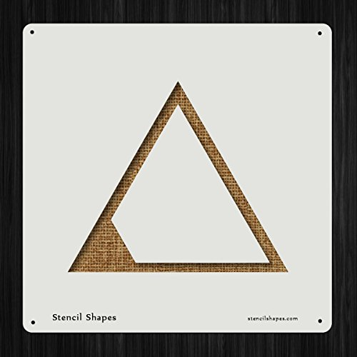 Acrylic Triangle Shape - Scale Small Triangle Shrink Shapes Style 18931 DIY Plastic Stencil Acrylic Mylar Reusable