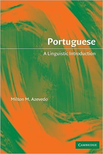 Portuguese: A Linguistic Introduction
