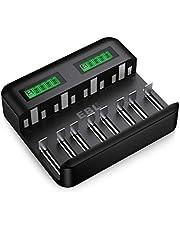 EBL Batteriladdare för AA AAA C D NI-MH batterier typ C Input snabbladdare, LCD-display batteriladdare