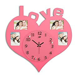 Znzbzt Love The Creative Photo Frame Wall Clock Living Room Stylish and Simple Modern Clock Mute Bedroom Clocks