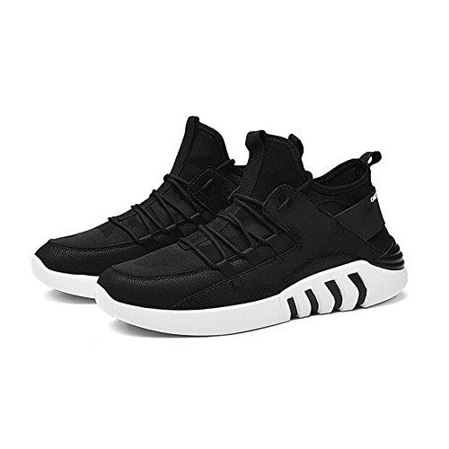 Men's Shoes Feifei Spring and Autumn Leisure Movement Wear-Resistant High-Top Shoes 3 Colors(Size Multiple Choice) (Color : 01, Size : EU40/UK7/CN41)