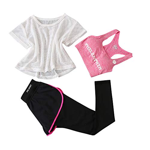 Sports Suit Three Piece Set Women, Yoga Suit Woman Fitness Running Short Tops + Short Pants + Sports Bra Training Sets Athletic Fitness Jogging Suit