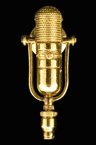 (77D Microphone Pin - 24k Gold Plated)