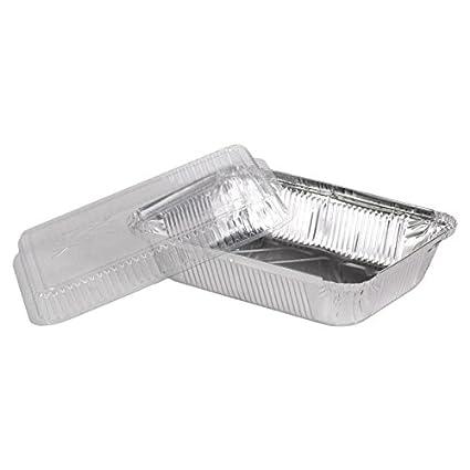 """100 bandejas de aluminio con tapa x (PET) modelo """"Sydney"""" 960"""