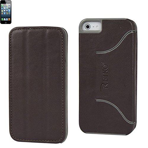 Reiko-FC04 IPHONE5HORSEBR cheval la Texture de fixation pour iPhone 5 Marron