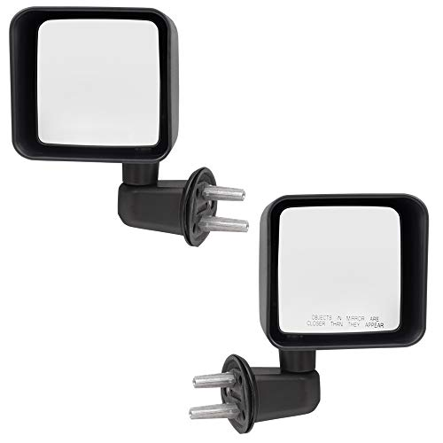 Driver and Passenger Manual Side View Mirrors
