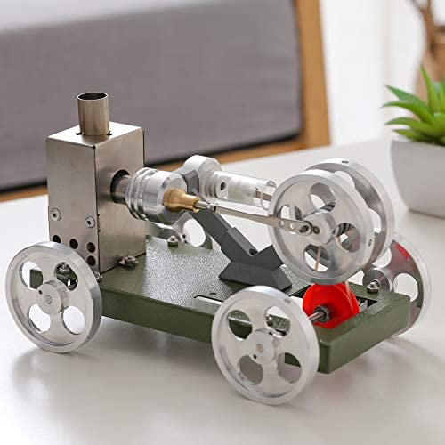 perfk Hete lucht stirling motor motor model educatief speelgoed monteren diy metalen auto model