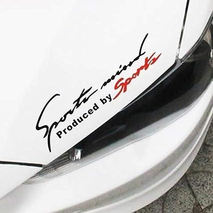 Car Sticker Home Voiture de Course Auto imperm/éable Lettres r/éfl/échissantes Motif v/éhicule d/écor Autocollant de d/écalque pour Ford Mercedes-Benz BMW Volkswagen Passat Audi d/écapotable ☆ Noir