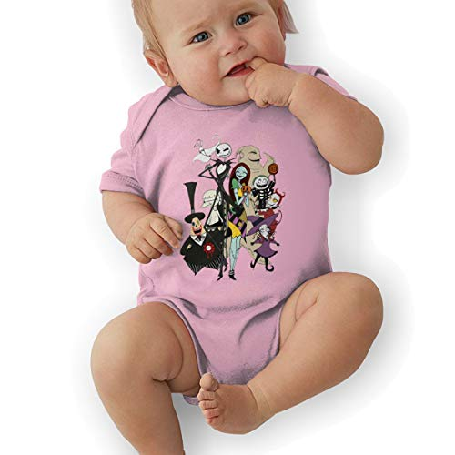 Seuriamin The Nightmare Before Christmas Baby&Boy's&Girl's 100% Cotton Supersoft Crew-Neck Short Sleeve Climbing Onesies Unisex -