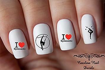 Amazon.com : Sports Gymnast #2 I Love Gymnastics Child Nail Art ...