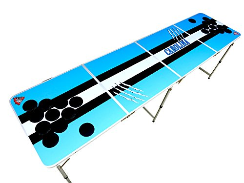 Carolina Beer Pong Table Blue Black with HOLES