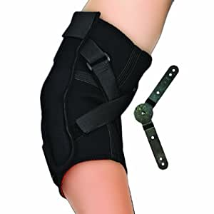 Thermoskin Range of Motion Hinged Elbow Brace, Black, Small