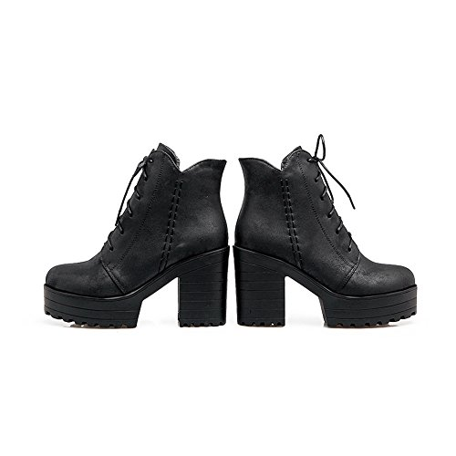 Balamasa Donna High-top Bende Stivali Alti In Uretano Abl10501 Neri