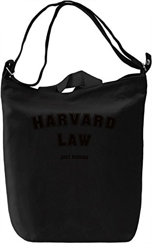 Harvard Law Borsa Giornaliera Canvas Canvas Day Bag| 100% Premium Cotton Canvas| DTG Printing|