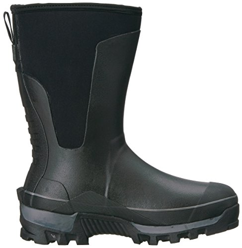 Uomo Capo Western Cold Cold In Neoprene Memory Foam Boot Invernale Nero