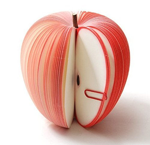 UDTEE 3PCS Cute/Creative/Practical Apple-shaped Fruit Sticky Note