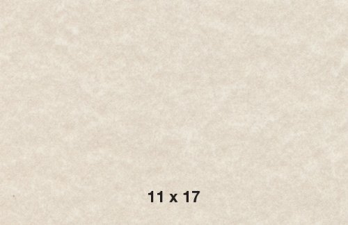 11x17 Cardstock Paper (11 X 17 Stationery Parchment Recycled Paper 65lb. Cover Cardstock - 50 Sheets Per Pack (Natural Cream))