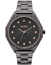 Relógio Feminino Euro Analógico Eu2035Yop/4C Preto