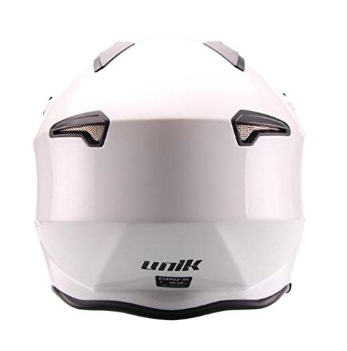 UNIK CT-07 Casco Trial con visera Sun blanco XL