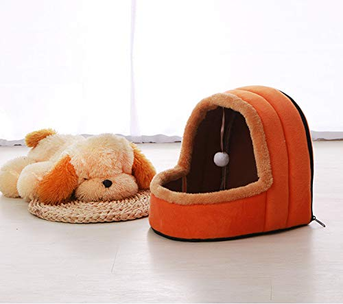 YSDTLX Haustierbett Mongolische Jurte Haustier Nest Spielen Schlaf Eine Saison Universal Haustier Matratze, Orange Rot, 35  34  32 cm