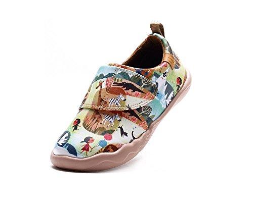 Multicolore petit Chaussures Pour Cuir De Uin Zoo Couleurs Enfant Enfant AqnURxpXa