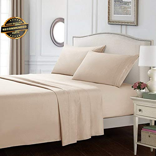 Gatton Premium New Soft Flat Fitted Bed Sheets Set 600 Thread 12 Deep Pocket Full King Queen Size | Collection SHEESRONG-200113661