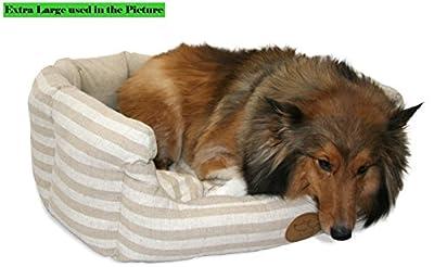 Best Pet Supplies, Inc. BPS - Lotus Bed - Tan Stripes