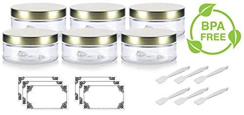3 oz plastic jars - 6