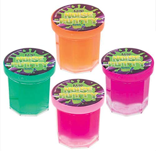 Mega Party Favor Pack of Slime - Party Favors for Kids and Teens - Bulk Pack of 48 Mini Noise Putty in Assorted Neon Colors - Bulk Toys, Easter Egg Stuffers, and Birthday Party Favors for Kids ()