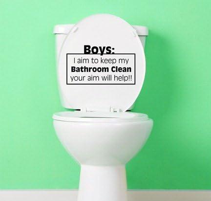 Bathroom Sticker Toilet Vinyl Decal Sign