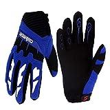 Gogokids Kids Cycling Gloves - Children Full Finger Sports Gloves for Skating, Road Bicycle, Mountain Bike, Skateboard, Blue S