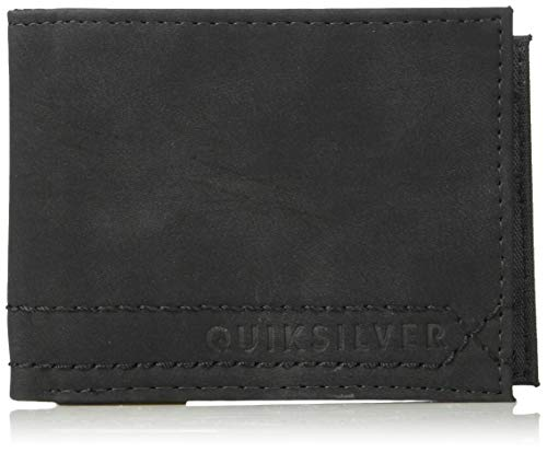 (Quiksilver Men's STITCHY Wallet V, black, M)