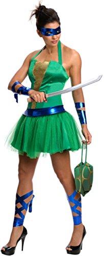 Secret Wishes  Costume Teenage Mutant Ninja Turtles Leonardo Adult Female, Green, Large -