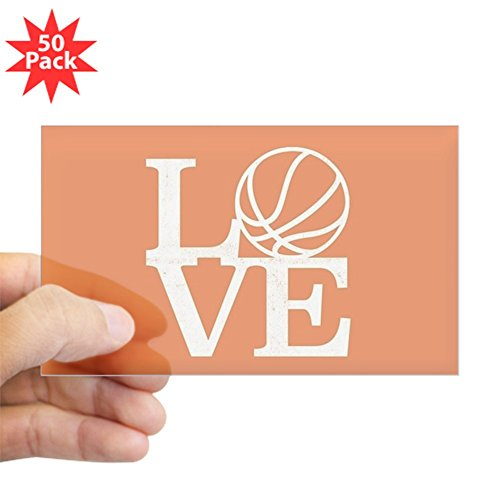 CafePress - Love Basketball - Sticker (Rectangle 50 pk) by CafePress