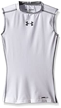Under Armour Heat Gear Sonic Compression Sleeveless - Adult - White - Small