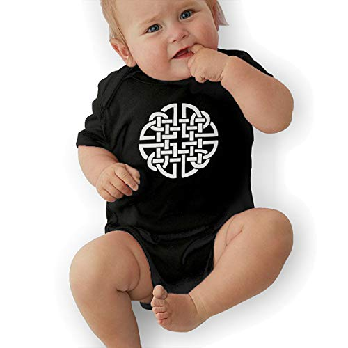 Celtic Shield Knot Baby Organic Pajamas Organic Bodysuits Black