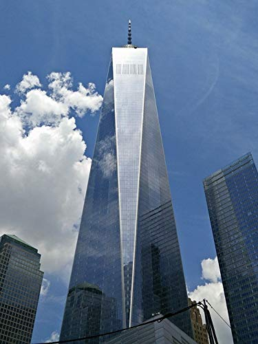 Home Comforts Laminated Poster Glass New York City Building World Trade Center One Vivid Imagery Poster Print 24 x 36