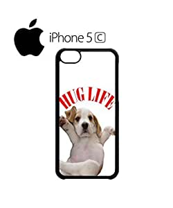 LJF phone case Hug Pug Life Cute Dog Doggie Mobile Cell Phone Case Cover iphone 6 4.7 inch Black