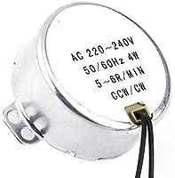 1Pc 220-240V AC 5//6RPM Fan Synchronous Motor Geared 4W CW//CCW 50//60HZ
