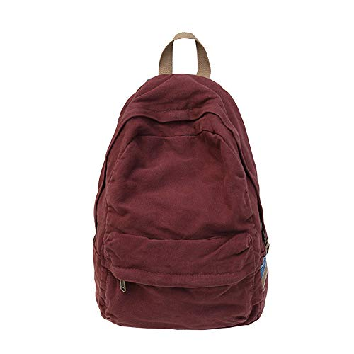 Solid per studenti di Canvas Washed Zaino Travel College Leisure Cotton Vhvcx Borsa Wind grande Color Donna capacità Man Ox6wzwZ