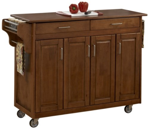 - Create-a-Cart Warm Oak Finish with Oak Top by Home Styles