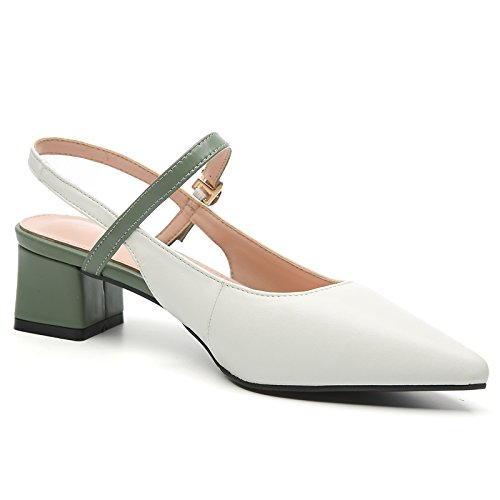 Heels Beige Shoes Kitties KPHY High Slender Seven Buckles Girls Thirty Women'S Fresh And Little Rivets 7Cm HFqZWPwZ