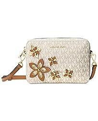 MICHAEL Michael Kors Flowers Pouches Medium Camera Bag Cross Body, Vanilla