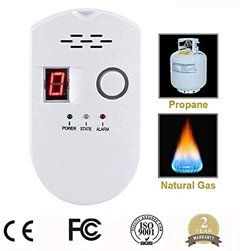 Natural Gas Leak Detector, Propane/Natural Gas Detector, Home Gas Alarm; Leak Tester, Sensor; Monitor Combustible Gas