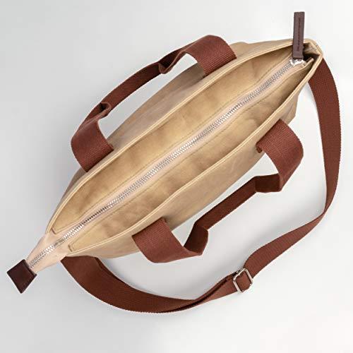 ac10a00c93ba The Mermaid s Treasures Waxed Canvas Crossbody Purse Bag - Women s Travel  Shoulder Tote Crossover HandBag