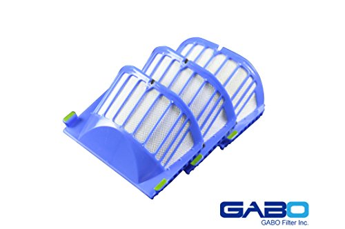 Gabo Filter GBV-0049 iRobot Aero Vac Vacuum Cleaner Filter Fits Roomba 500 Series Roomba 600 Series Replacement Accessory Compare Part No 20939 (3pack)