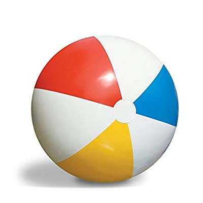 "Swim Central 30"" Inflatable Vibrant Colored Water Sports Classic Beach Ball: Toys & Games [5Bkhe1404550]"
