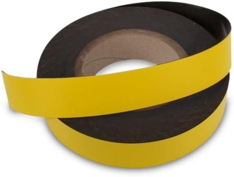 Farbiges Magnetband beschreibbar für Whiteboard, Kühlschrank uvm (1mx10mm gelb)