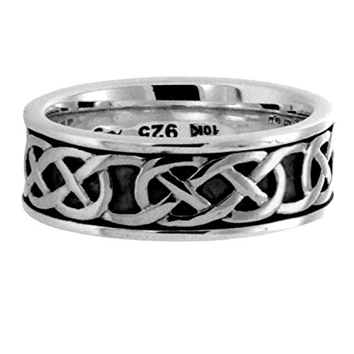 Belston Celtic Knot Ring For Men In Sterling Silver By Keith Jack